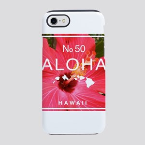 Aloha Hawaii No 50 Red Hibiscu iPhone 7 Tough Case